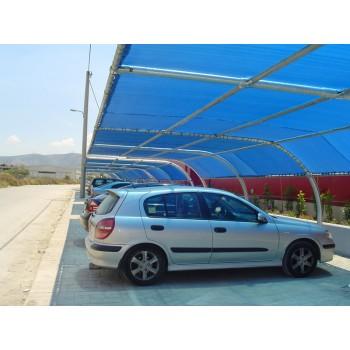 σκιαστρα αυτοκινητων - Κουρμπαριστό σκίαστρο ιδανικο για Parking Καταστηματων