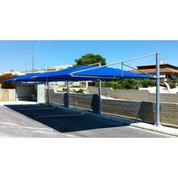 στεγαστρα παρκινγκ - σκίαστρο αυτοκινήτων τύπου ομπρέλας σε parking