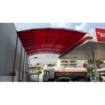 στεγαστρα παρκινγκ - στεγαστρο για αυτοκινητα με PVC