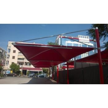 στεγαστρα παρκινγκ - στεγαστρο αυτοκινητων τυπου ομπρελας με PVC